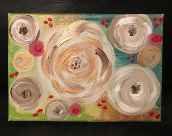 Mini flower canvas (4X6)