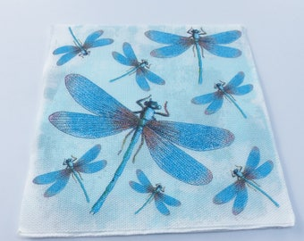 10 blue Dragonfly 38 X 38 paper towel