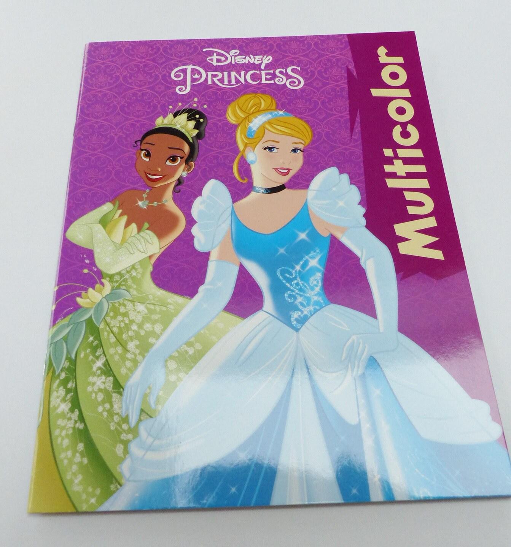 Livre de coloriage les princesses multicolore disney - Livre de coloriage disney ...