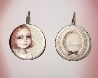 Earrings - fantasy - 'Alice's dream'