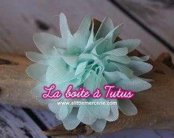 ★ Flower Applique fabric Lily chiffon strapless headband diy belt ★ water Mint Green