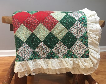 Old Fashioned Christmas Table Cloth