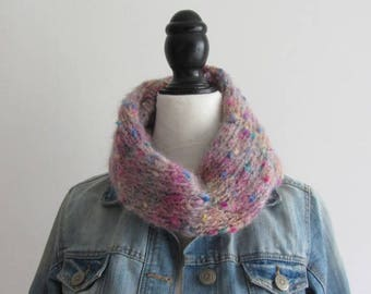 Hand - knitted Snood round neck, tubular scarf for kids - fall/winter 2017