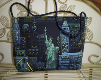 American patchwork fabric handbag
