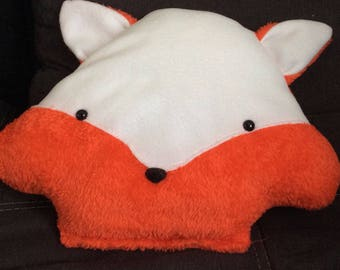 Handmade plush Fox orange and white