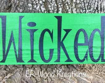 Wicked Sign - Halloween Sign - Wreath Sign - Wooden Sign - Wall Sign - Witch Sign - Pallet Sign - Halloween Decor