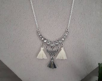Ethnic necklace and tassels