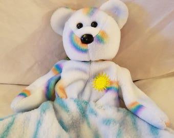 Hand sewen blanket, hand sewen into plush animal.
