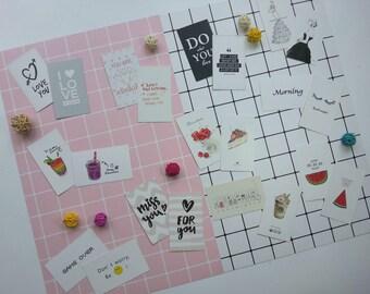 Japan & Korea Style Chic Grid Photo Wall Postcard / Decorative Creative Postcard / Photography Prop / Paper backdrop (C9 - Set of 11)