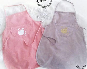 Personalized apron Taupe