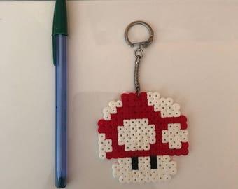 Mario mushroom Keychain Hama beads