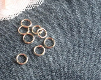 100 jumprings plated rose gold 5 mm