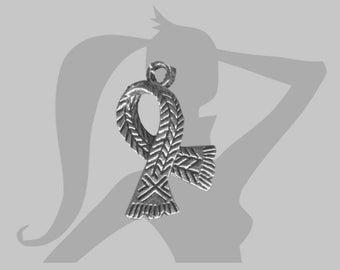 2 x charms silver metal scarf 24 x 16mm