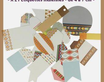 Embellishments - Die cut - Artemio - Totem - Indian - 21 pcs