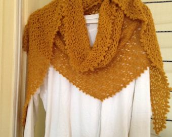 Great mustard color scarf