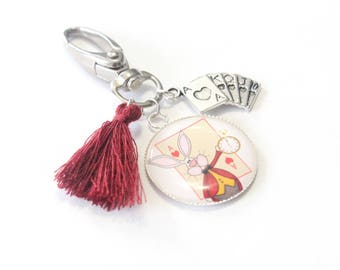 Grigri White Rabbit Keychain special Alice in Wonderland country