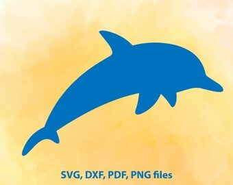 Dolphin SVG, Dolphin DXF file, Sea Cut File, Sea animals Cricut, Dolphin Silhouette, Fish vector art, Sea pdf, Dolphin cutting file