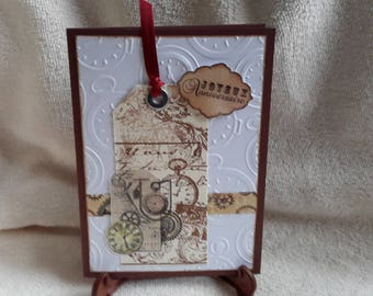 Steampunk style birthday card