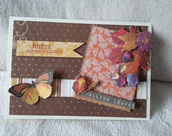 The colors of autumn birthday card