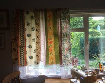 Boho, Gypsy, Hipster, Patchwork curtains.