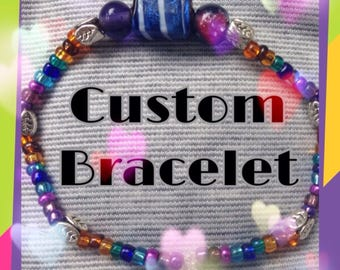 Custom Beaded Bracelet