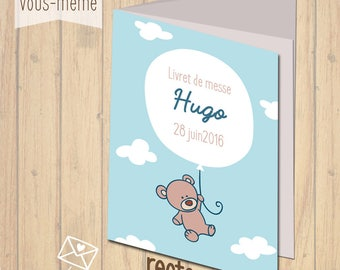 Baptism book cover, customizable {to print yourself}
