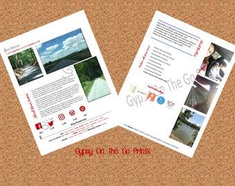 Media Kit Template, 2 Page, Blogger Media Kit, Blog Media Press Kit Template,