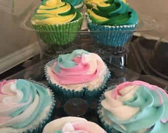 4-pack Cupcake Bath Bombs