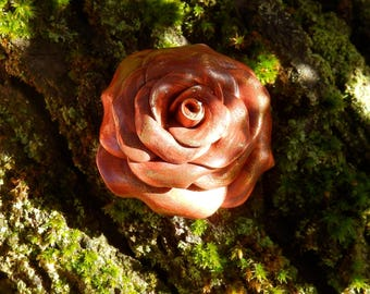 Large pink * hot copper Brown * N ° 1