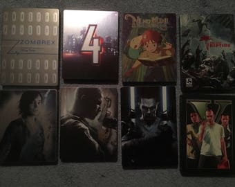 Dishonored 2 X Tarot Card Decks & 9 Spec Ed Game Collector Steelbook tins PS3 XBox 360 VG