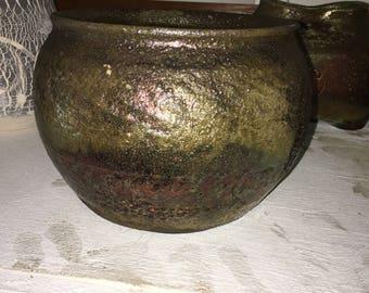 Raku medium vase