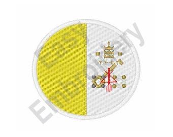 Vatican City Flag - Machine Embroidery Design