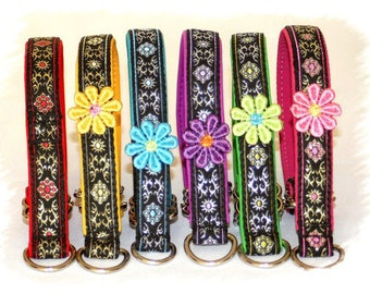 Dog Collar+ +Special price Jacquard Ribbon *Lovely*  Design for Pet accessories fashion