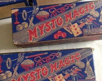 Vintage Mysto Magic Trick Boxes from 1940s
