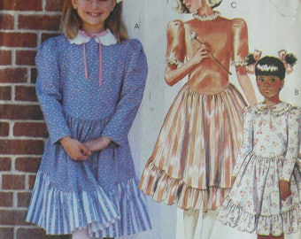 Girl's Dress Pattern - Vintage McCall's 3273 - Size 7-8-10
