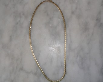 Signed Vintage Gold Tone Park Lane Necklace Chain