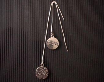 tree of life yggdrasil nickel free silver plated earrings Norse mythology viking symbol nickel free