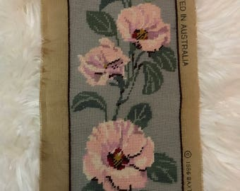 Long Tapestry Canvas Flower Image