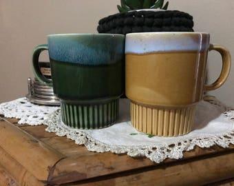 Vintage Pottery Mugs