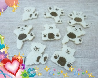 1 set of 8 Teddy material foam Ecru