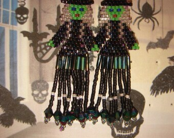 Halloween WITCHES miuyki beads earrings