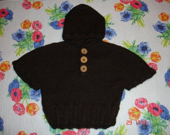 Adorable poncho for baby boy