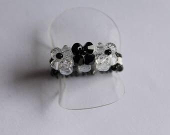 Ring Swarovski Simple black and white