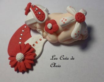 Baby Baby flowers polymer clay.