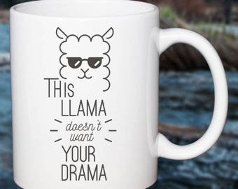Funny Office Coffee Mug No Drama Llama