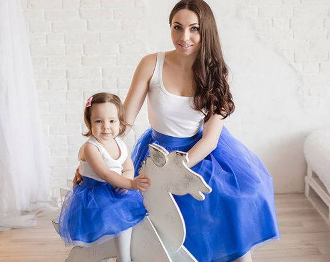 Mother and daughter tulle skirt / Mommy and Me tutu / Mother and Daughter Tulle Skirt Set / Mother daughter matching skirts