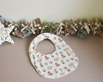 Cotton and Terry cloth bib