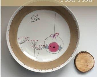 Piou Piou - Fiche créative peinture sur porcelaine