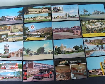 1950's Hotel / Motel Postcard Lot Of 35 Cards.