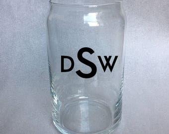 Monogram Beer Glass